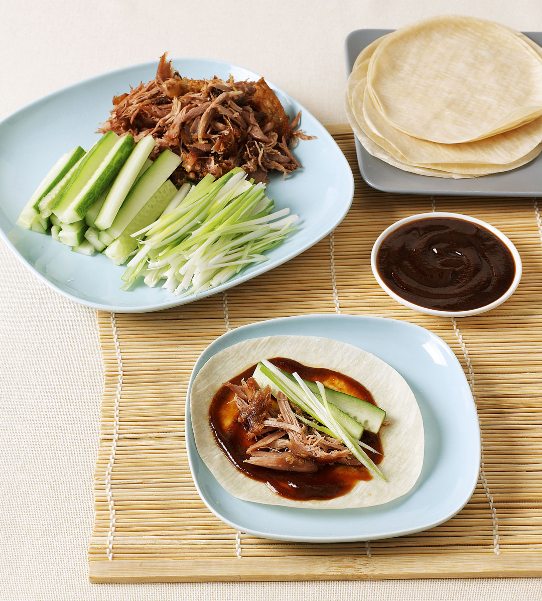 Crispy duck pancakes, from Simple & Classic by Jane Hornby