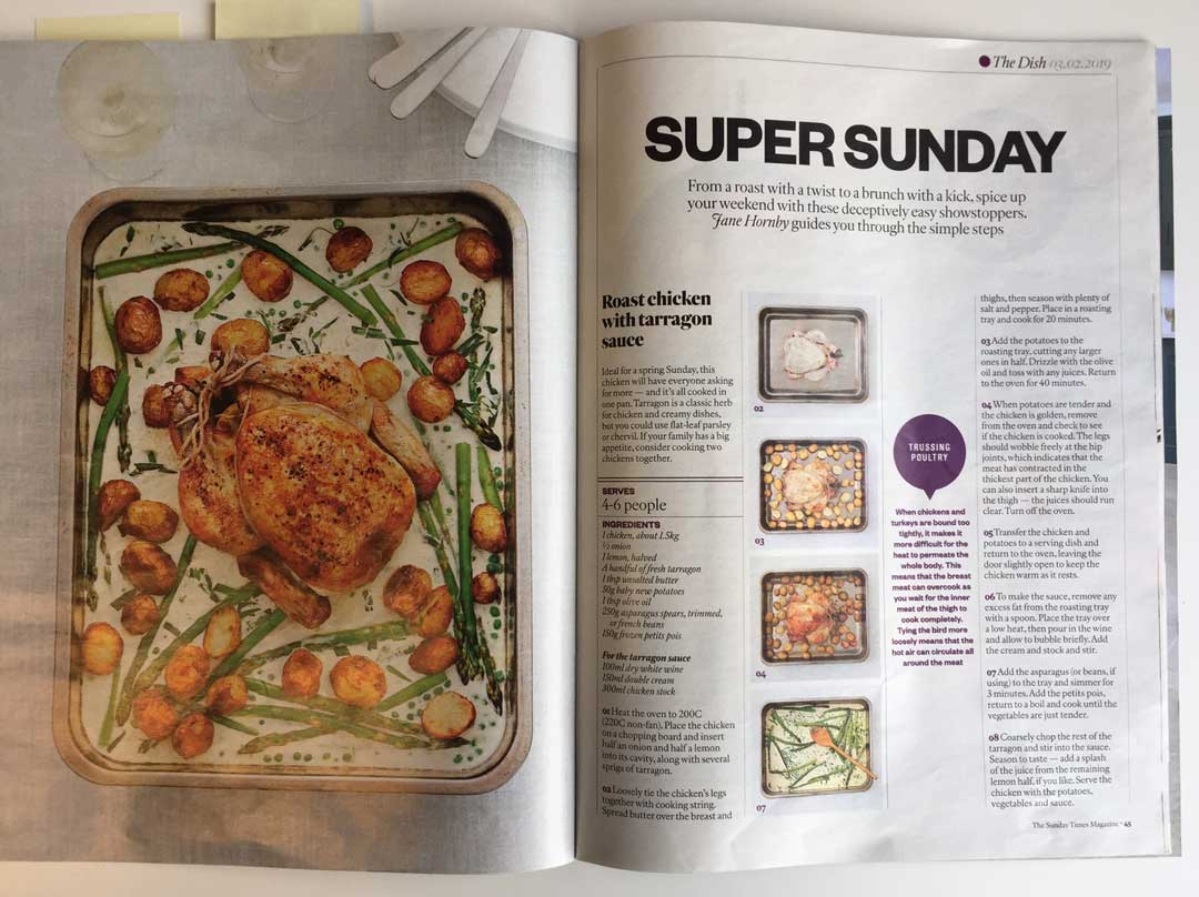 Jane Hornby in the Sunday Times magazine Dish
