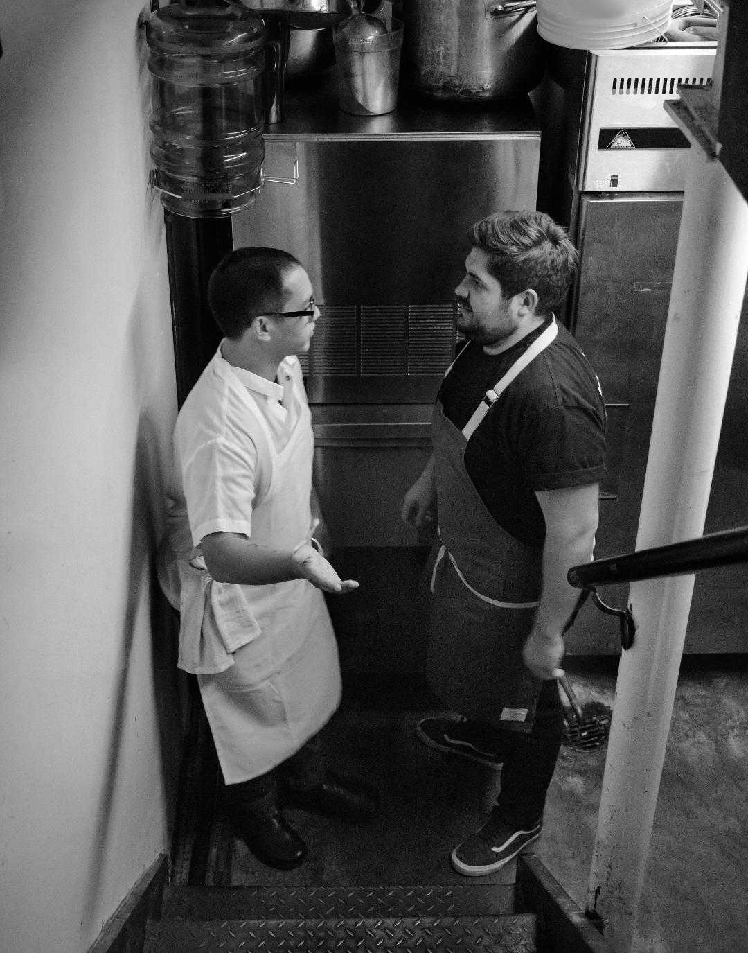 Jeremiah Stone and Fabián von Hauske, wine lovers and authors of A Very Serious Cookbook
