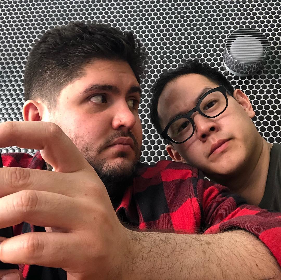 Fabian von Hauske and Jeremiah Stone; image courtesy of their podcast Istagram @elfabandjerryshow