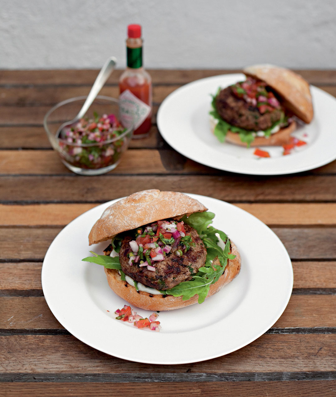 Chimichurri-style burgers by Jane Hornby from Simple & Classic. Photography by Liz and Max Haarala Hamilton