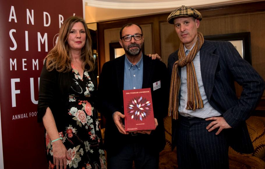 Musa Dagdeviren (centre) with André Simon judge Niki Segnit and The Turkish Cookbook photographer Toby Glanville
