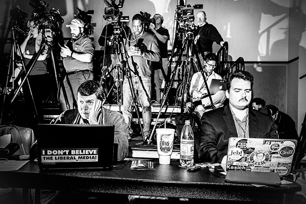 Mark Peterson, The Press Section at Senator Ted Cruz Event, Columbia SC, January 15, 2016