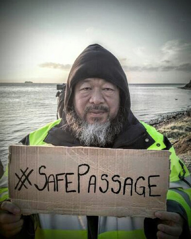 #SafePassage, from Ai Weiwei's Instagram