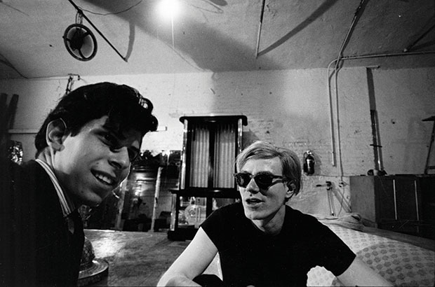 A young Stephen Shore with Andy Warhol at the Factory. From Factory: Andy Warhol