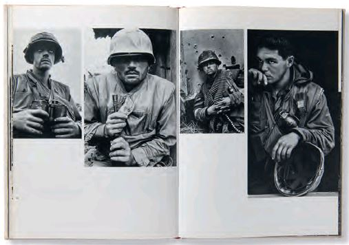 A spread from Magnum's America in Crisis. As reproduced in Magnum Photobook: The Catalogue Raisonné