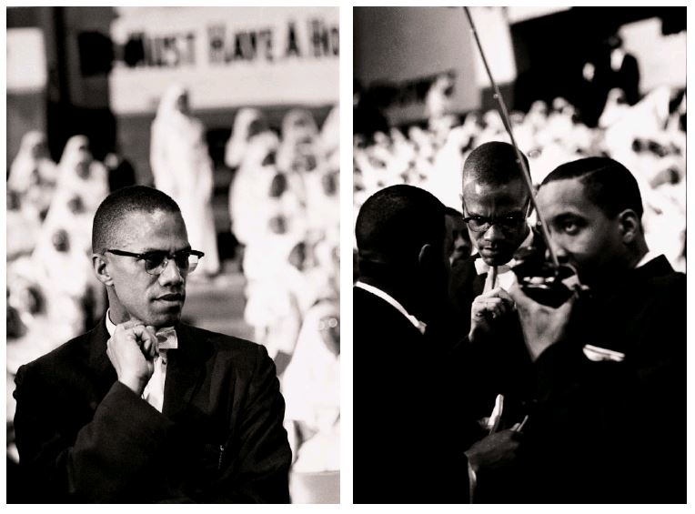 A spread of Eve Arnold's 1961 Malcolm X photographs from our book Magnum Stories.