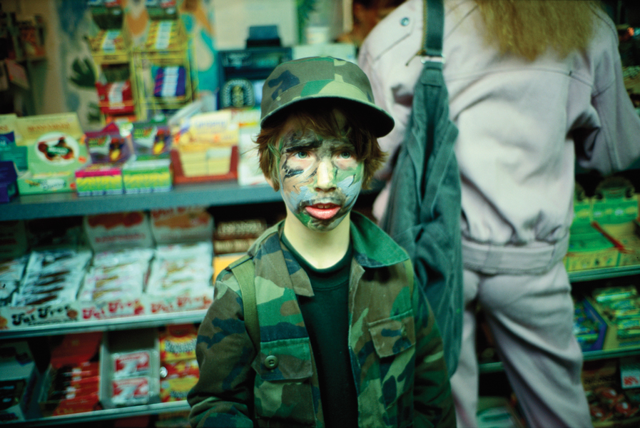 Io in camouflage, NYC, 1994 by Nan Goldin, as featured in Eden and After
