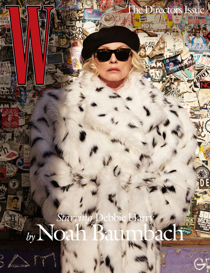 Debbie Harry wears a Balenciaga coat; Lola Hats hat; Ray-Ban sunglasses; her own earrings. Directed by Noah Baumbach; Photographed by Stephen Shore; Styled by Sara Moonves. Image courtesy of Wmagazine.com