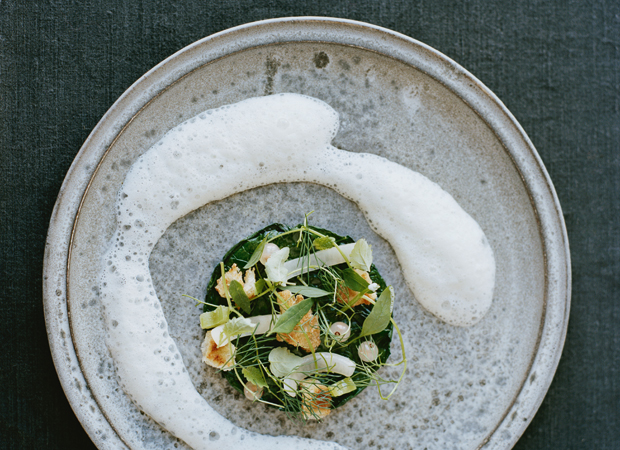 Spinach Steamed in Tea